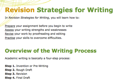new tool to learn revision skills and improve student writing ccdmd revision strategies 400