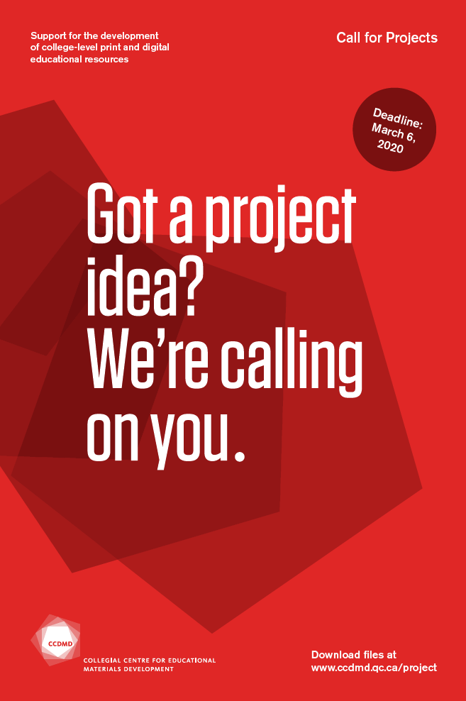 Call for projects, CCDMD, 2020