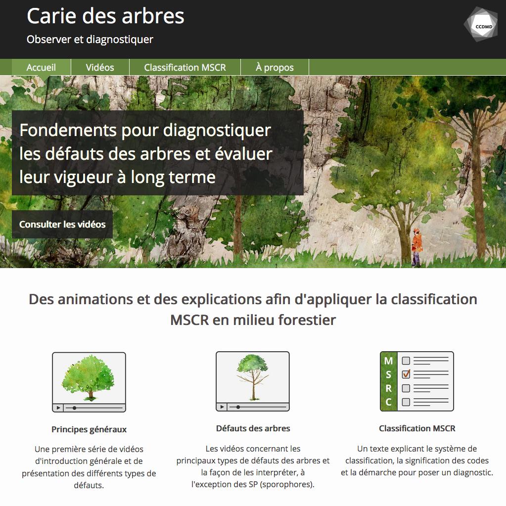 Site web la Carie des arbres