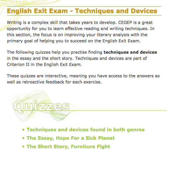 51 english essay exam exit