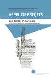 Appel de projets 2013 : 17 projets soumis