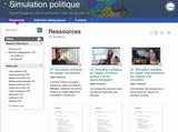Invitation au lancement du site Web Simulation politique