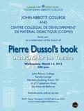 Invitation au lancement du manuel AutoCAD for the Theatre