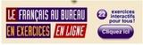 Le français au bureau en exercices en ligne a un an!
