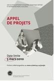 Appel de projets : Vous avez jusqu'au 5 mars 2010