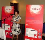Le CCDMD dévoile son nouveau logo au colloque de l'Association québécoise de pédagogie collégiale (AQPC)