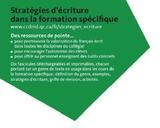 Du nouveau matériel pour la valorisation du français dans la formation spécifique